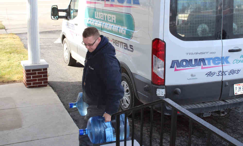 Aquatek Water Conditioning offers a delivery service for homes and businesses.