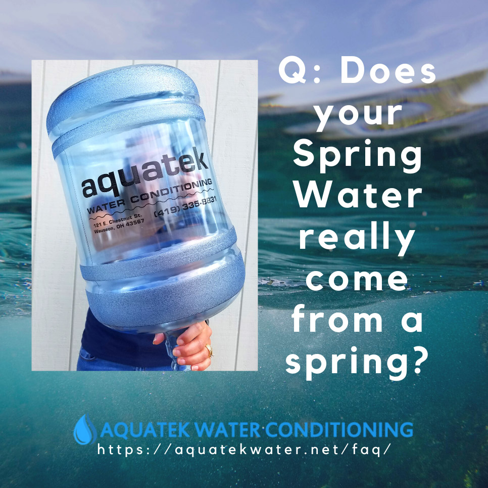 does your spring water really come from a spring
