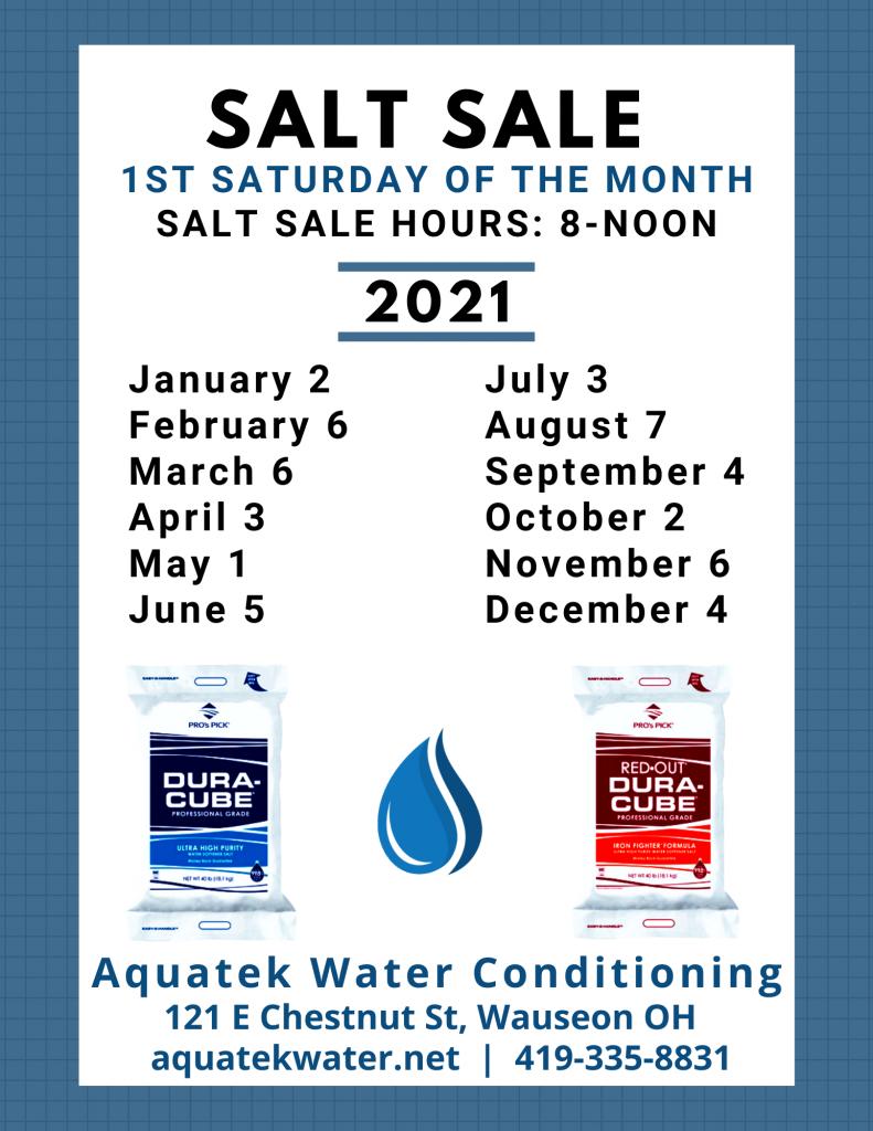 Aquatek Water Conditioning Salt Sale Date