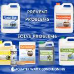 Aquatek Water Conditioning sells several pond maintenance products that are FDA approved.